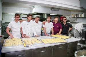 From left: Panagiotis, Giorgos, Michalis, Mikes, Panagiotis, Mikes